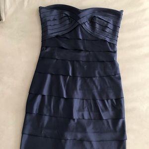 ANGL Bodycon Navy Blue Bandage Dress